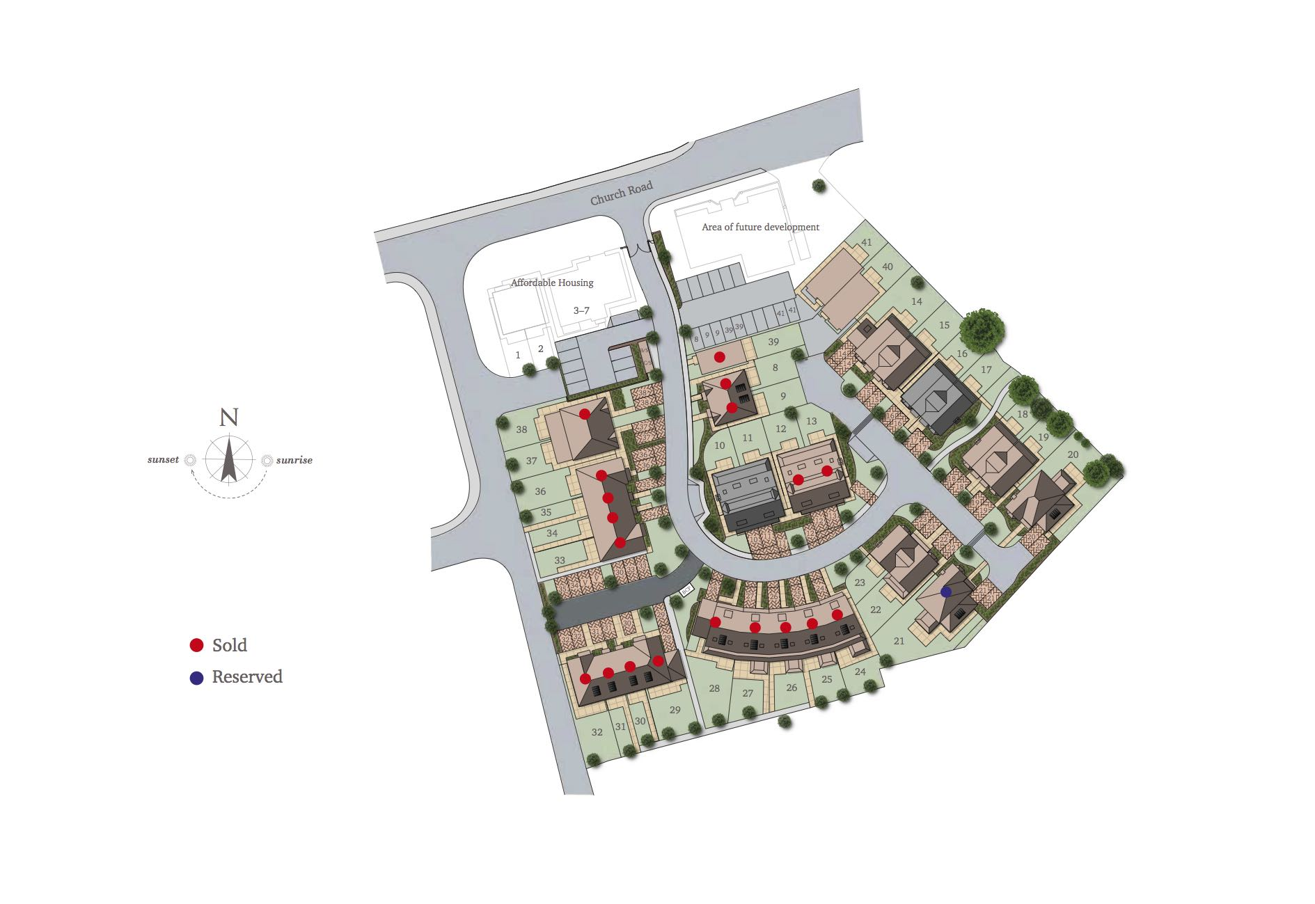 Great Oaks, Bookham Houses Siteplan