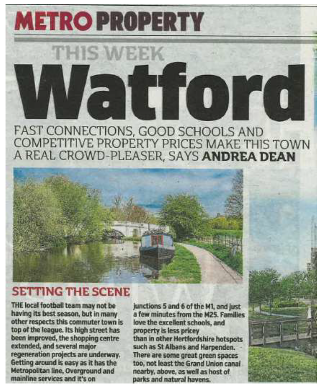 Metro Coverage Of Compass Fields, Watford